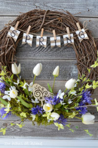 Spring Wreath Activity for Seniors and Caregivers