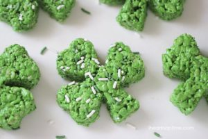 St. Patrick's Day Senior Clover Rice Krispies