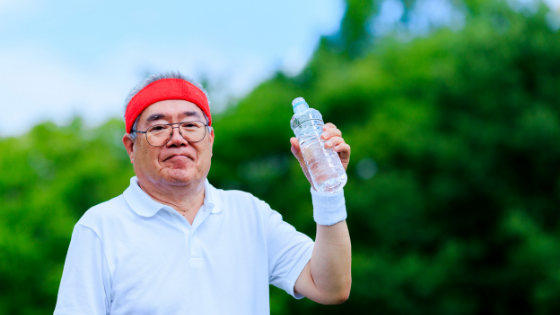 The Elderly need to stay hydrated during the summer.